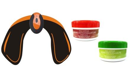Elettrostimolatore glutei EMS con crema anticellulite o antismagliature