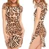 Juniors' Leopard Bodycon Dress
