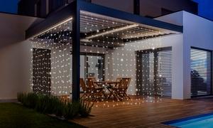 Rideau solaire lumineux 306 LED