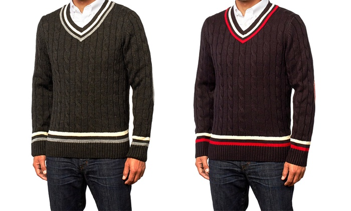 X-Ray Jeans Men's V-Neck Premium Sweater