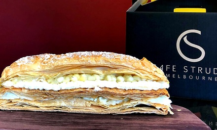 Custard and Cream ($11), Apple ($16.50) or Strawberry, Mango or Banana Strudel Log ($17.50) (Up to $28 Value)