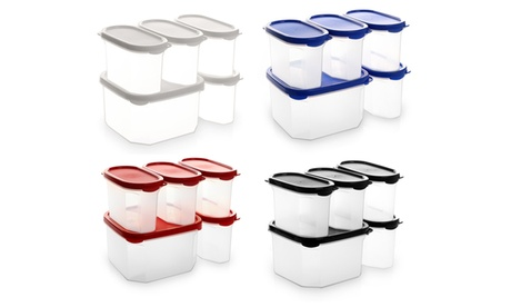 Bino Airtight Stackable Food Containers Set (10-Piece) d6b4cac4-a6c4-47ae-b49c-a0a9ac4144cc