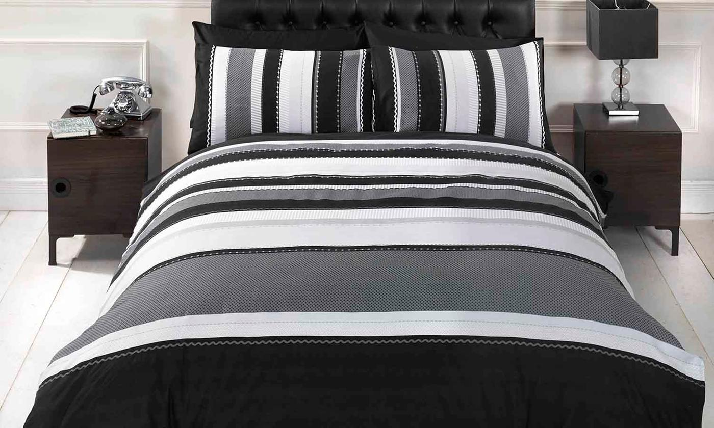 Rapport Home Detroit Striped Duvet Cover Set for £8.99