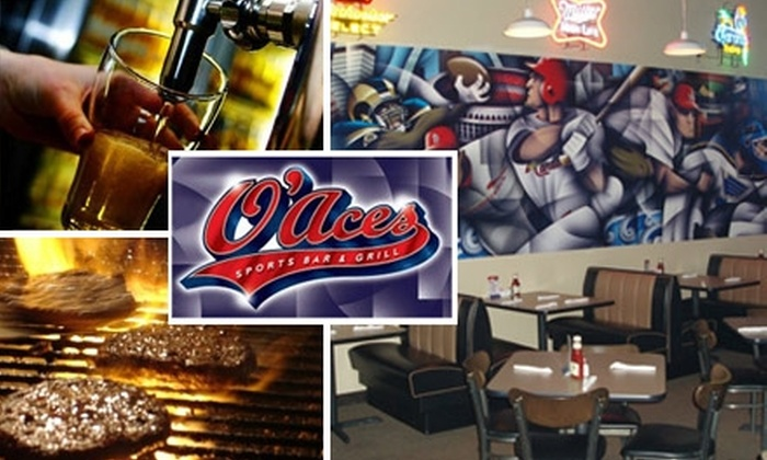 O'Aces Sports Bar & Grill - Imperial: $5 for $20 Worth of Burgers, Wings, Pizzas, and Beer at O'Aces Sports Bar & Grill