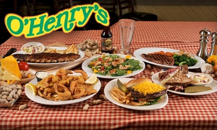 O'Henry's - Multiple Locations: $15 for $30 Worth of Burgers, Steaks, Seafood, and More at O'Henry's