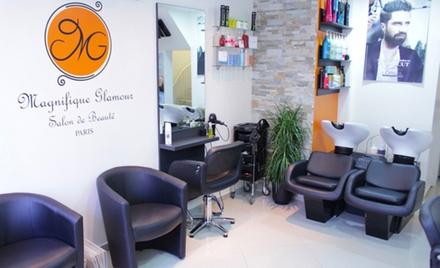 Shampoing, coupe, brushing sur toutes longueurs option couleur ou balayage dès 19,90 € au salon Magnifique Glamour