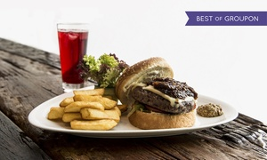 Pascal Tepper French Bakery: Burger meal with Fries and Soft drink for Two or Four at Pascal Tepper French Bakery (Up to 52% Off)