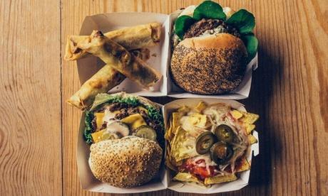 Menú de hamburguesas para 2 o 4 con entrante, hamburguesa, postre y bebida desde 17,95 € en Bandidos Beach Bar