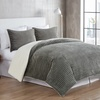 Zane Ribbed Plush Reversible to Sherpa Comforter Set (3-Piece)