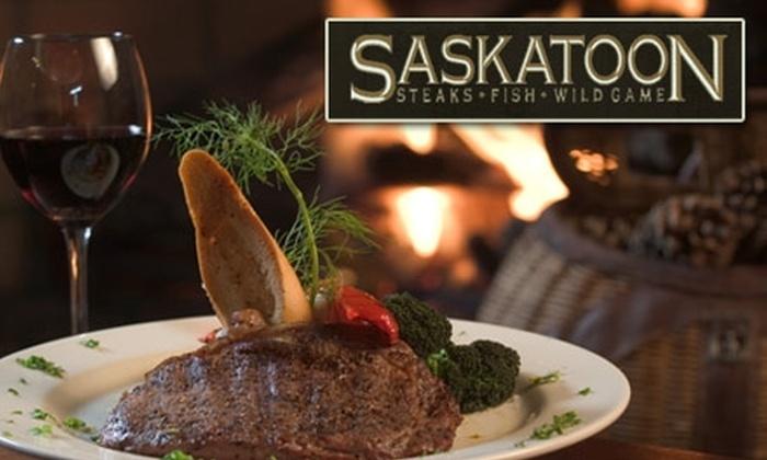 Saskatoon - Buckhead Village: $20 for $45 Worth of Fine Dining and Drinks at Saskatoon