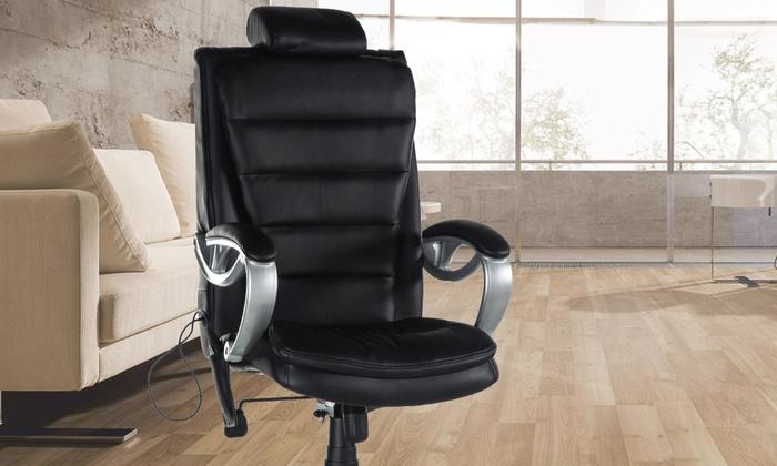 jusqu 39 37 chaise de modelage shiatsu noire groupon. Black Bedroom Furniture Sets. Home Design Ideas