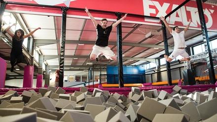 Séance de trampoline et Funclimb d1h pour 1, 2 ou 4 personnes dès 8 € au centre Exalto Lyon Villeurbanne