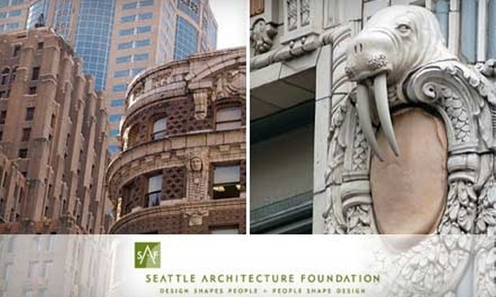 Seattle Architecture Foundation - Central Business District: $7 for One of Four Architectural Walking Tours from the Seattle Architecture Foundation ($15 Value)