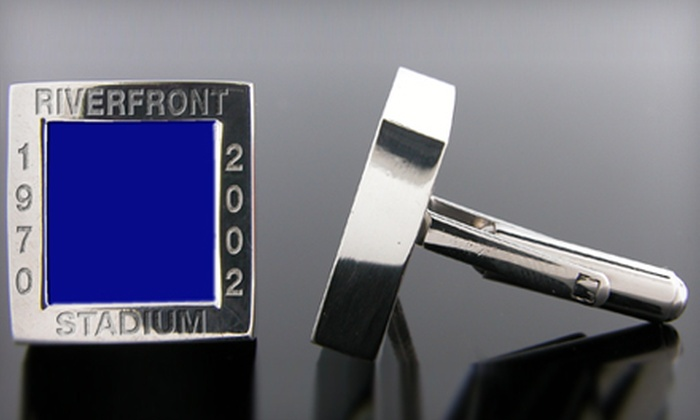 Stadium Cuffs: $79 for One Pair of Authentic Sports-Stadium Cuff Links from Stadium Cuffs (Up to $278.19 Value)