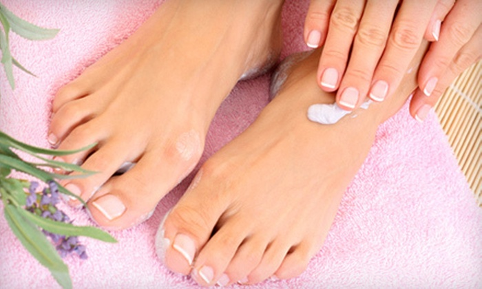 Diamond Nails - Irving Park: Manicure and Sugar-Scrub Pedicure or No-Chip Manicure and Spa Pedicure at Diamond Nails (Up to 53% Off)