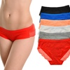 Women's Cotton Bikini Panties with Lace Trims (6-Pack)