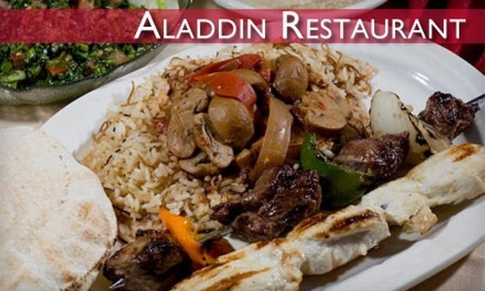 The Aladdin Restaurant - Allentown: $15 for $30 Worth of Middle Eastern Fare at The Aladdin Restaurant