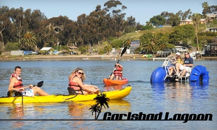 Carlsbad Lagoon - Carlsbad: $20 for a Two-Hour Kayak, Canoe, Aqua Cycle, or Stand-Up Paddleboard Rental at Carlsbad Lagoon