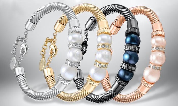 1 ou 2 bracelets perles naturelles et cristaux Swarovski® à 699€ (90% de rduction) livraison offerte
