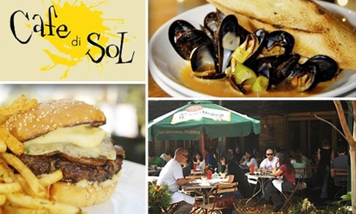 Cafe di Sol - Poncey-highland: $15 for $35 Worth of Casual Dining at Cafe di Sol