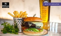 Burger, Fries and Drink for Up to Four with Podium Restaurant at Hilton Manchester Deansgate (Up to 66% Off)