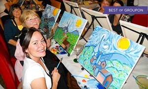 Groupon promo codes coupons get 10 off and 9 0 cash for Paint and wine albuquerque