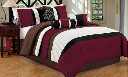 Color-Block Comforter Set (7-Piece)