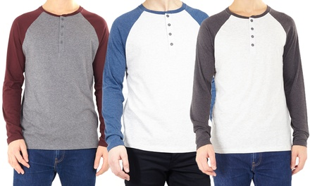 Mens Crew Neck Raglan Top