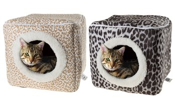 Enclosed Pet Bed Cavern with Soft Interior for Cats and Small Pets
