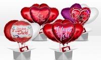 Ballon-Strauß zum Valentinstag in der Variante nach Wahl bei Ballongruesse.de (bis zu 32% sparen*)
