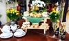 High Trees Garden Centre - Near Leeds Bradford Airport: Picnic Bench Classic or Sparkling Afternoon Tea for Two at Bistro Le Jardin, High Trees Garden Centre (Up to 36% Off)