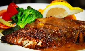 Stayners Wharf Pub & Grill: Seafood, Pub Cuisine, and Drinks at Stayner's Wharf Pub & Grill (Up to 50% Off). Three Options Available.