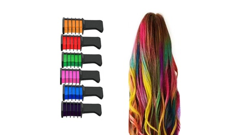 Six-Piece Hair Chalk Comb Set: One ($14) or Two ($24)