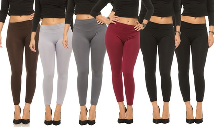 Women's Fleece Lined Leggings (6-Pack)