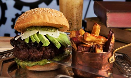 Choice of a Gourmet Boozy Burger and Side Each from R139 for Two at TRE Steampunk (40% Off)