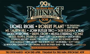 29th Annual Byron Bay Bluesfest: 29th Annual Byron Bay Bluesfest, 29 March - 2 April 2018, 25% Off Tickets