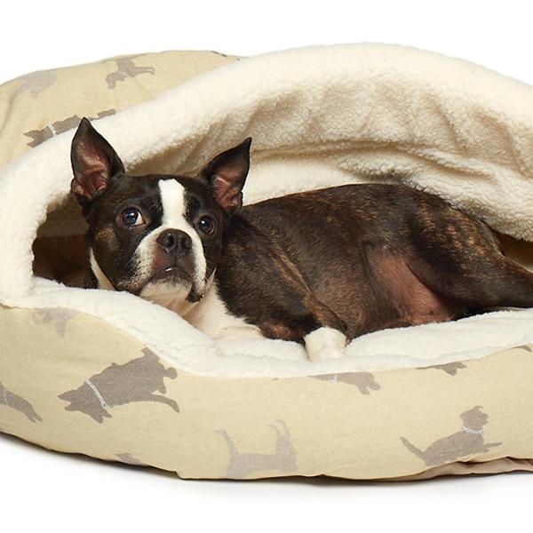 Canvas Fleece Deep Dish Cave Pet Bed Groupon