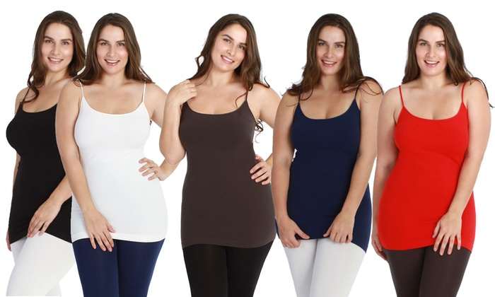 Woman's Plus Size Slimming Camisole (5-Pack)