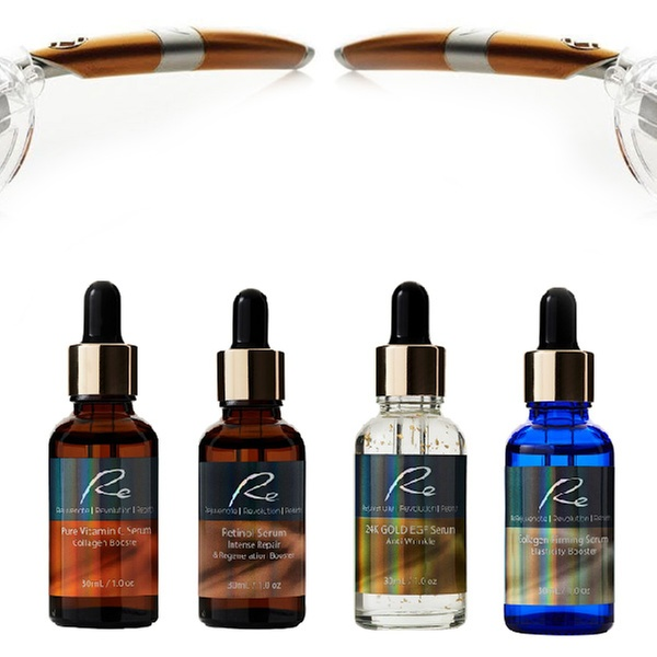 Re Eye or Face Derma Roller ($35), Roller with One Serum ($49) or Roller  with Two Serums ($59)