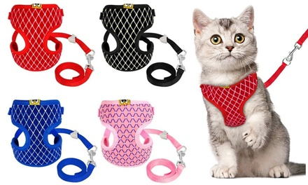 Rhinestone Mesh Pet Harness and Leash Set: One $120 or Two $19