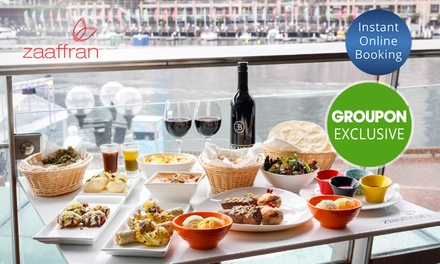FourCourse Indian BBQ Banquet with Bottle of Wine For Two $75 or Four People $150 at Zaaffran Up to $312 Value