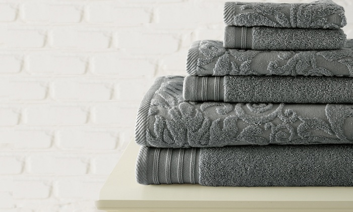 6-Piece Jacquard Towel Set by Casablanca Collection: $32.99 for The Casablanca Collection 6-Towel Set ($103.94 List Price). 5 Colors Available. Free Shipping and Returns.