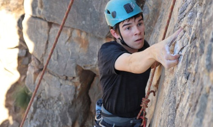 Rock Climbing and Abseiling: Weekday for 1 ($69) or Weekend for 2 People ($158) at Rock Solid Adventure (Up to $298)