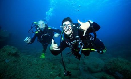 Bautismo de buceopara 1 o 2 personas con opción a reportaje fotográfico desde 36,95 € en Buceo Agaete Dive Center