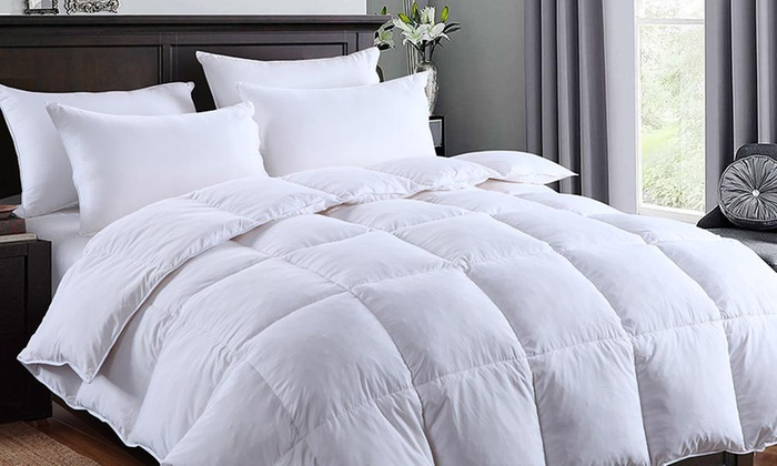 Dickens 13.5  or 15 Tog Silver-Piped Winter Warm Goose Feather and Down Duvet
