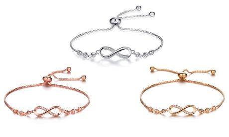 1 ou 2 bracelets d'amitié Crystal Infinity avec des cristaux
