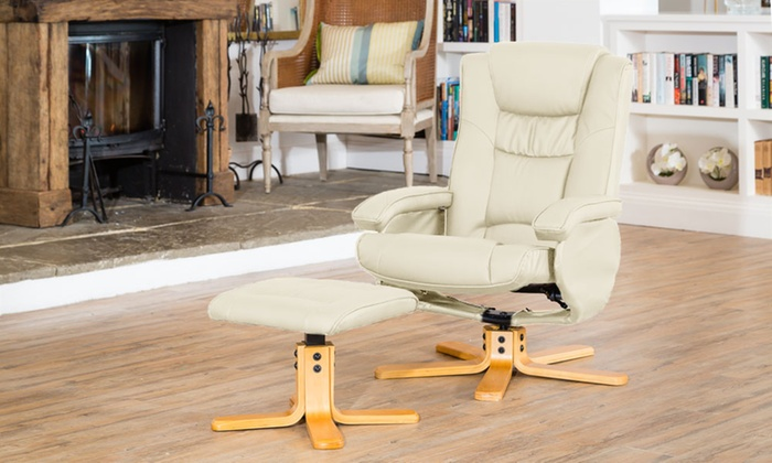 Amazing Bonded Leather Reclining Chair Groupon Goods Bralicious Painted Fabric Chair Ideas Braliciousco