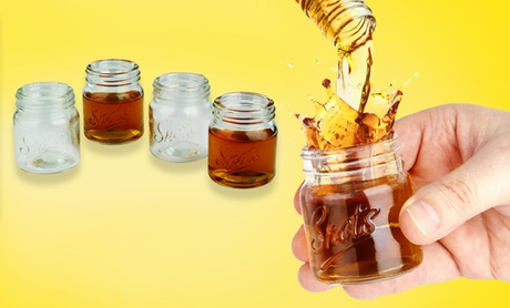 Set of 4 Mason Jar Shot Glasses