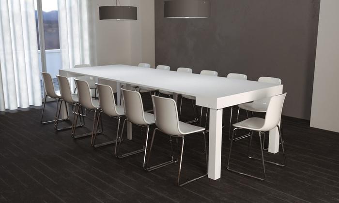 Consolle allungabile fino a 3 metri groupon goods - Consolle che diventa tavolo ...
