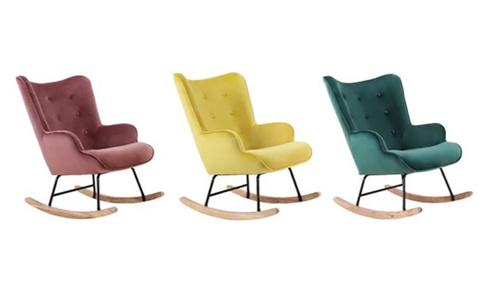 fauteuil bascule scandinave groupon. Black Bedroom Furniture Sets. Home Design Ideas